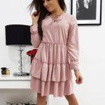 Dámske šaty LUCCY ružovej farby (ey0612)