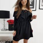 Čierne dámske šaty CORREA (ey0636)