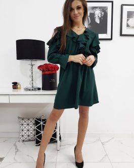 Dámske štýlové šaty CELINE zelenej farby (ey0589)