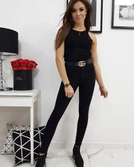 Dámske čierne džínsy RENE (uy0216)