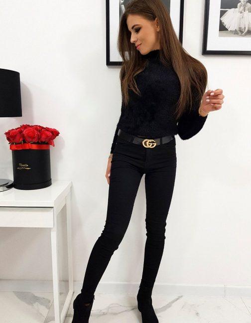 Čierny dámsky sveter MARIE (my0593)