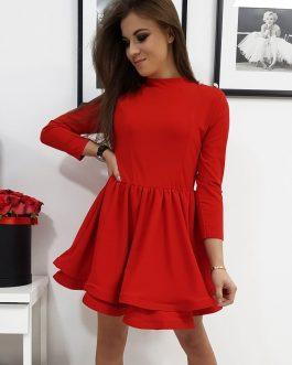Červené dámske šaty BONITA (ey1066)