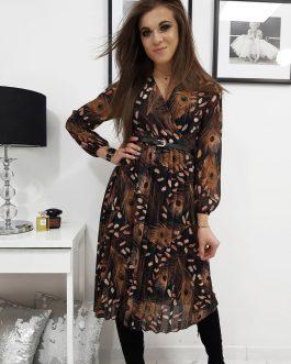 Štýlové čierne dámske šaty LILIE (ey1073)