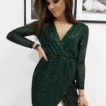 Jedinečné dámske zelené šaty VIRGINIA (ey1075)