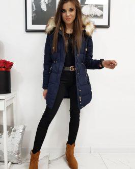 Granátová zimná prešívaná bunda pre dámy (ty1067)
