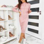 Štýlové ružové šaty STELLA (ey1088)