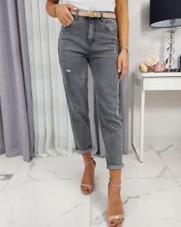 Svetlo-sivé dámske džínsové nohavice UY0223