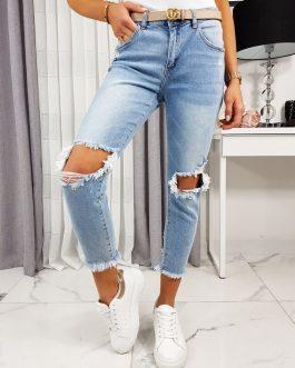 Originálne džínsy LOUISE s módnym trhaním UY0226