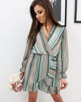 Svetlo-zelené dámske šaty AMELIA (ey1092)