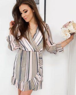 Elegantné svetlo-ružové šaty AMELIA (ey1093)