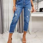 Dámske modré džínsy BELIA UY0235