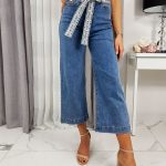 Dámske široké modré džínsy SELENA UY0241