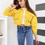 Žltá oversize džínsová bunda SUPRIME TY1097