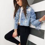 Moderná dámska džínsová bunda REMI TY1101