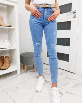 Pohodlné dámske modré džínsy UY0253