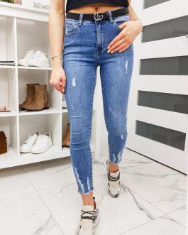 Dámske džínsy v módnom prevedení UY0256