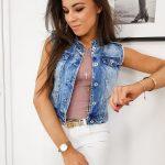 Dámska modrá džínsová vesta BEVERLY TY1106