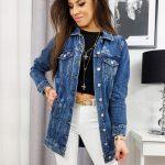 Dlhá dámska džínsová bunda ZAFIRA TY1116