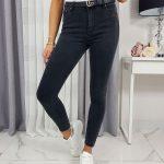Štýlové čierne dámske džínsy DEBORA UY0288