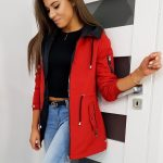 Červená dámska bunda AVONA TY1145