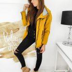 Žltá dámska trendy bunda MIRAGE TY1168