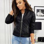 Originálna čierna koženková bunda BOXI TY1172