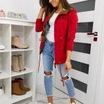 Červená bunda PERLALIS TY1179