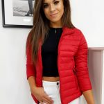 Krásna červená bunda EMMA TY1181