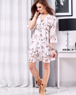 Biele elegantné šaty ANGELLO EY1108