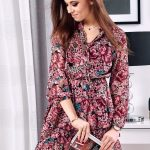 Dámske ružové šaty PINESI EY1110
