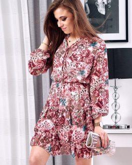 Elegantné šaty ružovej farby PINESI EY1111