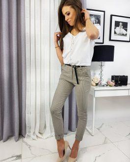 Béžové dámske nohavice MINACOS UY0297