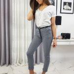Dámske granátové elegantné nohavice MINACOS UY0298