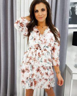 Dámske šaty BEAUTY bielej farby EY1113
