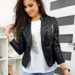 Čierna koženka CLORENA v trendy prevedení TY1187