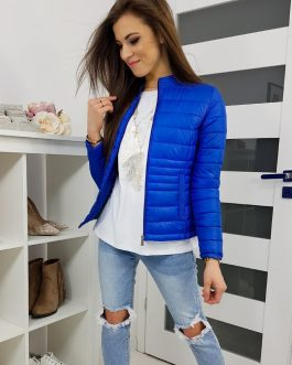 Krásna dámska modrá bunda KIARA TY1195