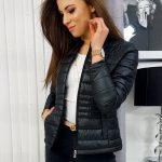 Prešívaná dámska čierna bunda KIARA TY1197