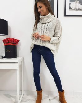 Béžový dámsky sveter LOGAN (my0602)