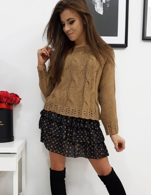 Camelový dámsky sveter AVIENE (my0683)