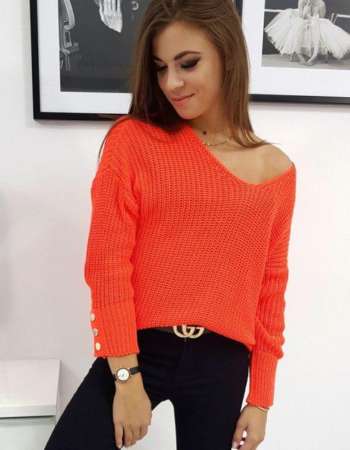 Dámsky oranžový sveter NEO (my0575)