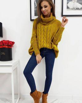 Dámsky sveter LOGAN vo farbe camel (my0603)