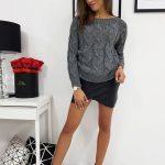 Dámsky tmavo-sivý sveter LISS (my0600)