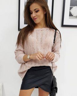 Jedinečný ružový dámsky sveter BONNIE (my0616)