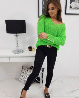 Krásny svetlo-zelený dámsky sveter NEO (my0574)