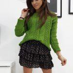 Krásny zelený dámsky sveter SUSANE (my0703)