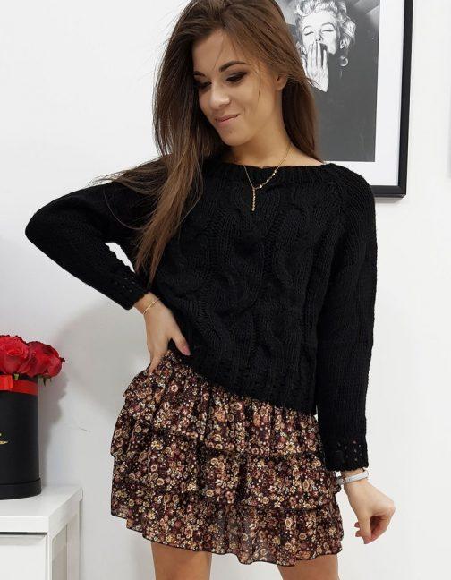 Pôsobivý dámsky sveter AVIENE čiernej farby (my0685)