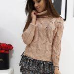 Pohodlný ružový sveter BOLIVIA pre dámy (my0695)