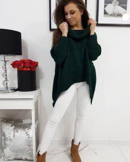 Rolákový sveter DENISA zelenej farby (my0669)