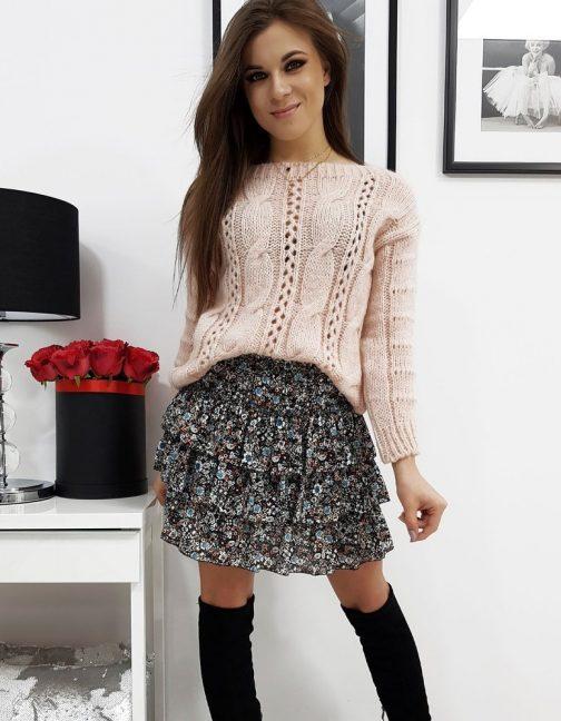 Ružový štýlový sveter SUSANE (my0677)