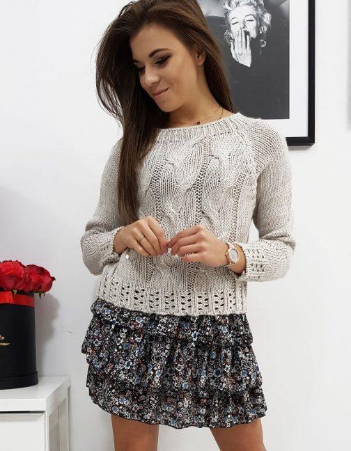 Svetlo-béžový pletený sveter AVIENE (my0684)